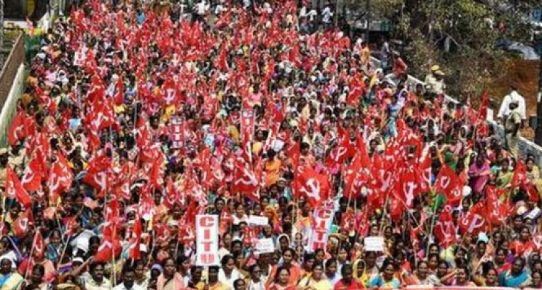 Anganwadi Workers Made A Rally Due To Pending Salaries