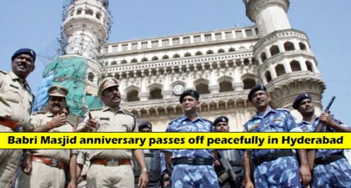 Babri Masjid anniversary passes off peacefully in Hyderabad