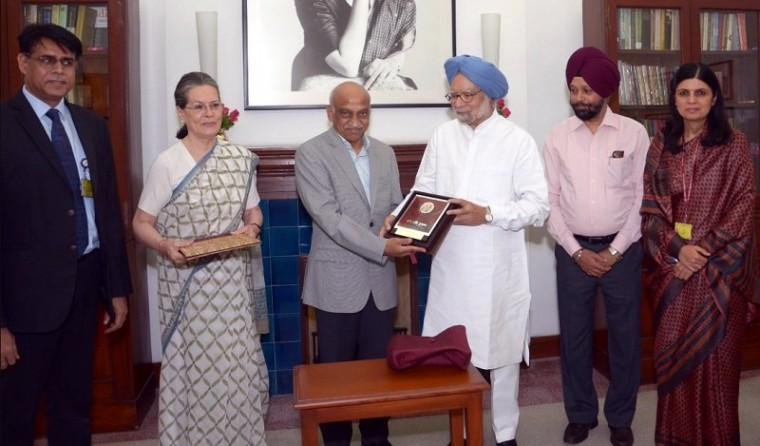 Indira Gandhi peace prize received by ISRO
