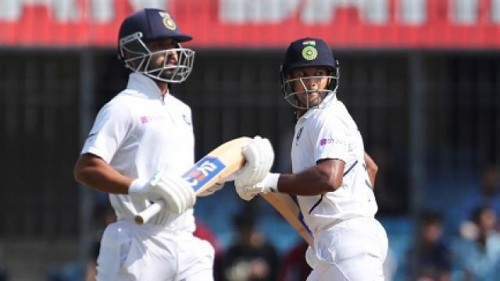 Indore Test: Mayank, Rahane take India's lead to 153