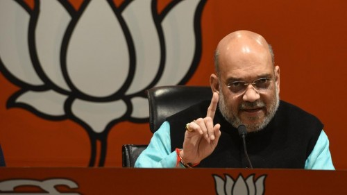 Shah holds key meeting of BJP office-bearers