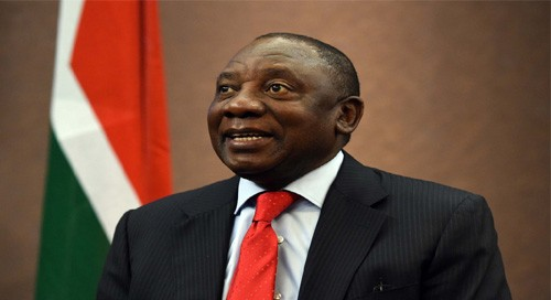 S. African President Ramaphosa takes oath of office