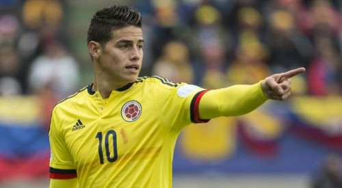 James Rodriguez suffers from muscle fatigue, but will play in Colombia debut