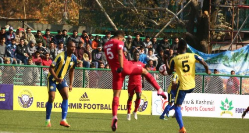 I-League: Ten-man Churchill hold Kashmir to 0-0 draw