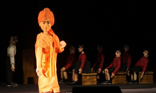 Swami Vivekananda's life depicted through puppet show