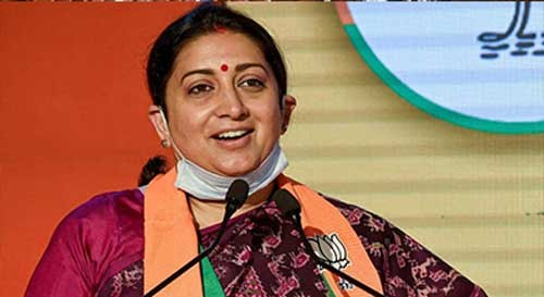 Smriti Irani slams Rahul, Sonia, asks if they are farmers?