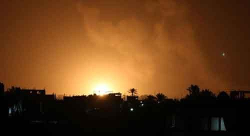 Israeli warplanes strike Hamas targets in Gaza