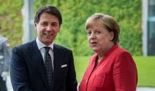 Conte discusses Italy's spending plans with Merkel