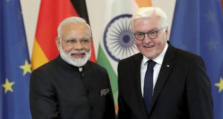 German President accorded ceremonial welcome