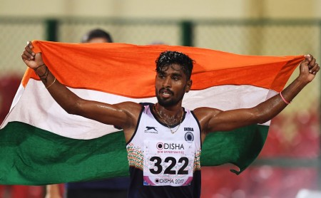 Asian indoor games : Lakshmanan, Chitra win gold
