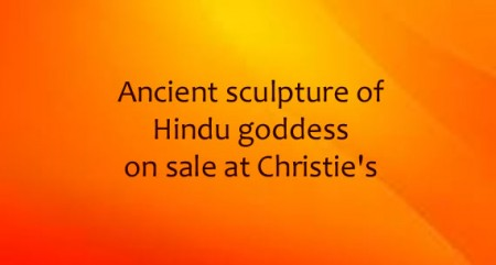 Ancient sculpture of Hindu goddess on sale at Christie's