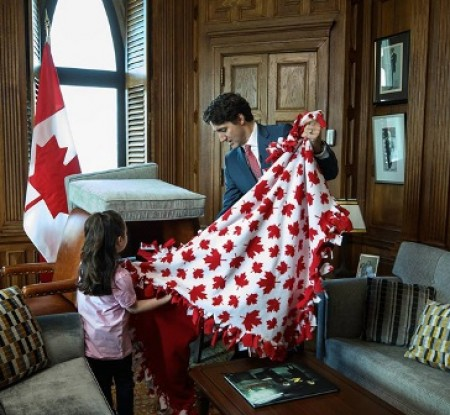 The five-year-old baby is the Prime Minister of Canada