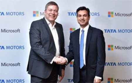 TataMotors join hands with Microsoft for connected cars