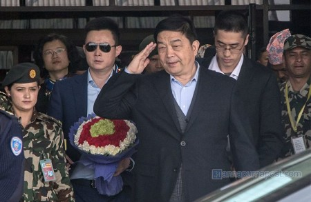 Chinese Defence Minister arrives in Nepal