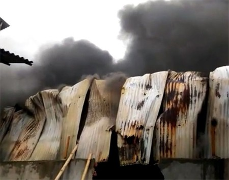 Fire in Howrah plastic factory