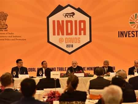 Modi holds roundtable meet with CEOs of global companies