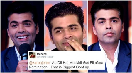 Karan Johar said �#OscarBooBoo� after Oscar 2017 goof-up, but Twitterati tore his tweet to pieces