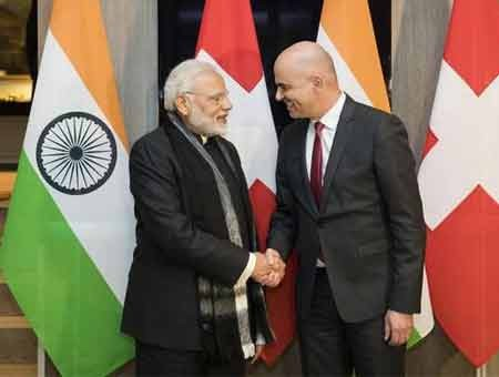 Modi holds bilateral talks with Swiss President