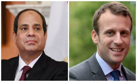 Sisi, Macron voice support for political settlement in Libya