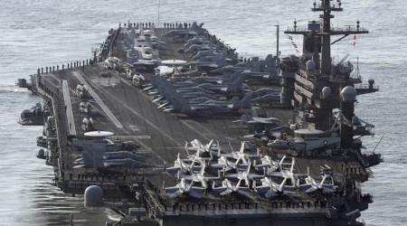 Japanese ships join US carrier for drills